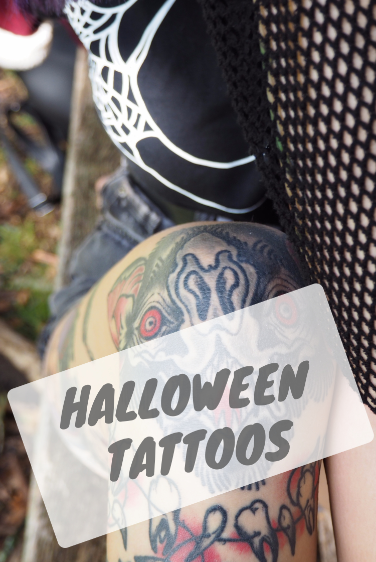 Halloween tattoo Pinterest closeup