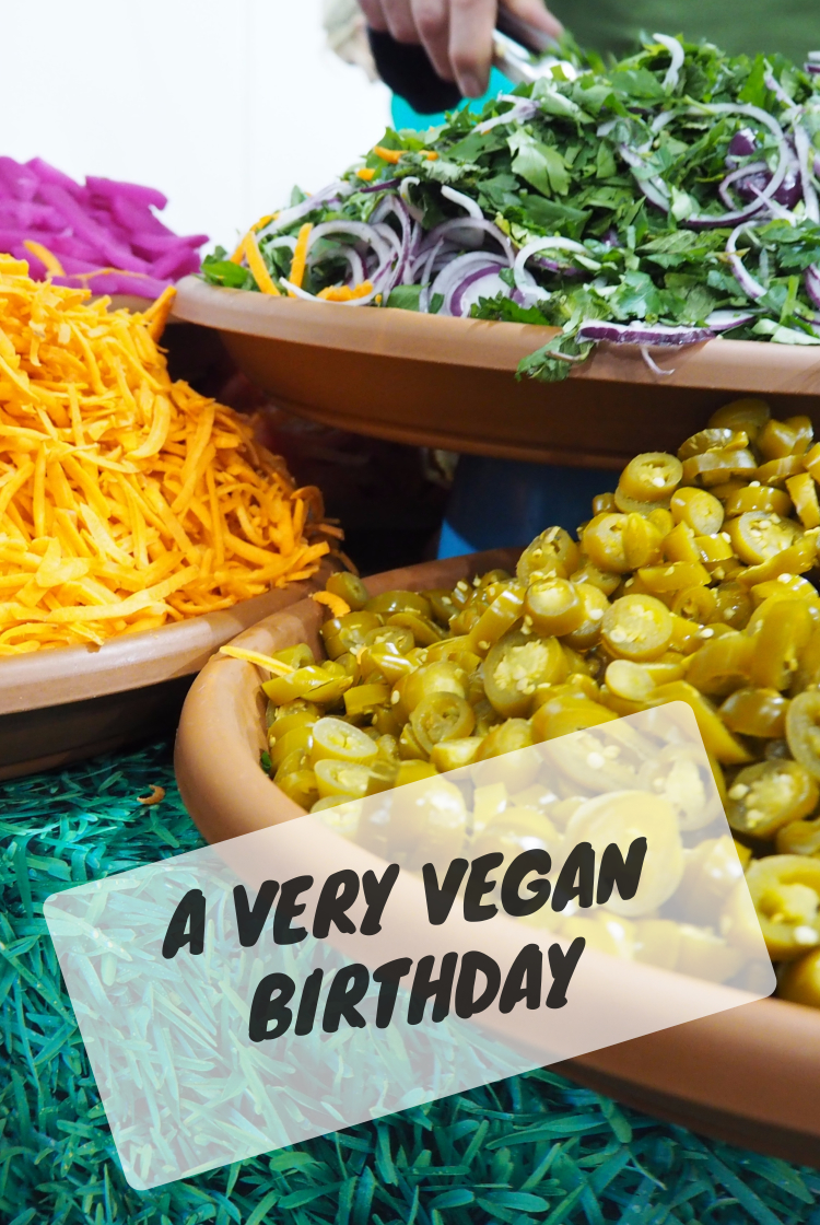 Very vegan birthday Pinterest close up