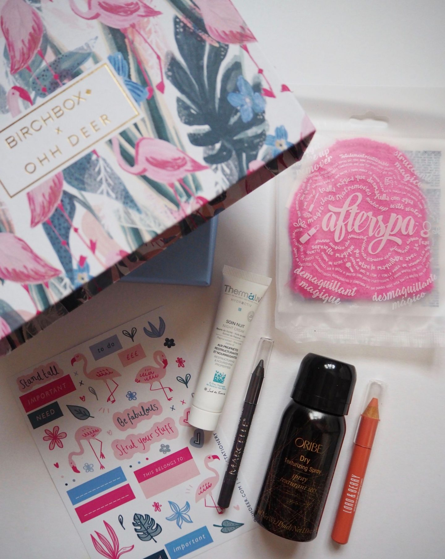 January birchbox ohh deer edition - product flatlay