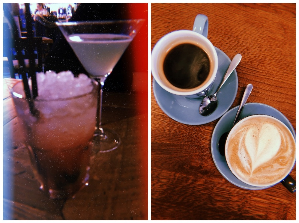 Weekend off blogging - drinks collage; cocktails & coffees