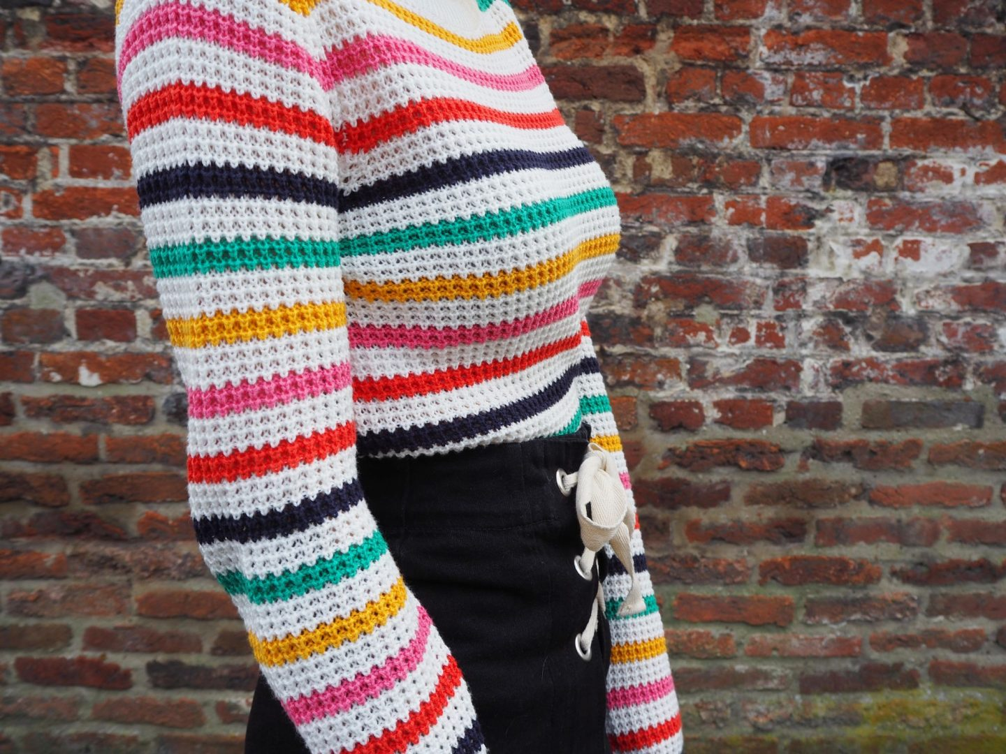 Defining my style - jumper closeup from side view