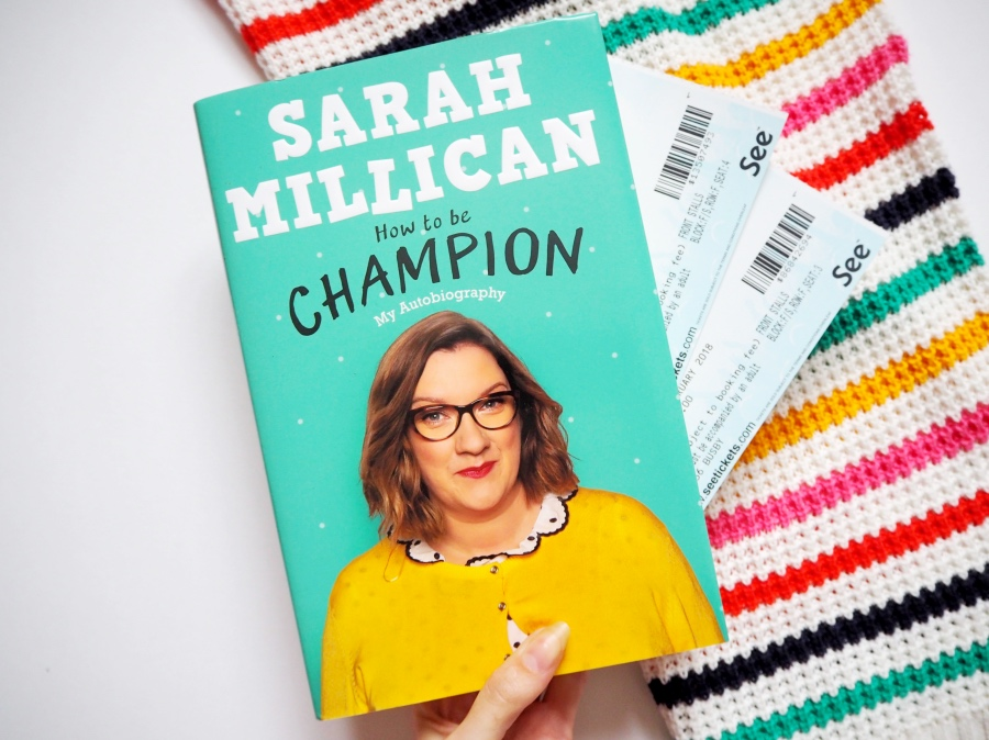 Sarah Millican - how to be a champion, tickets flatlay