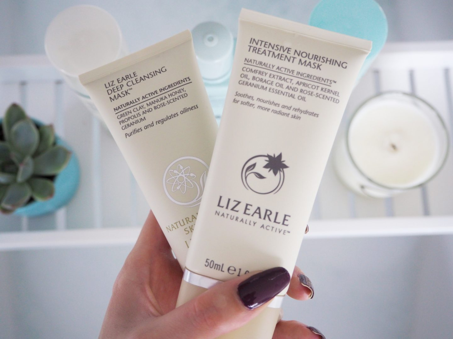 A Liz Earle Review -deep cleansing mask & intensive nourishing treatment mask