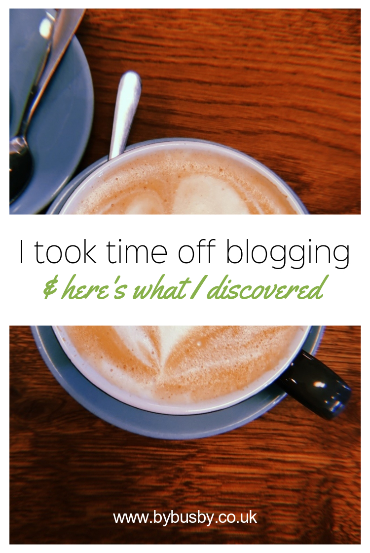 time off blogging - Pinterest graphic