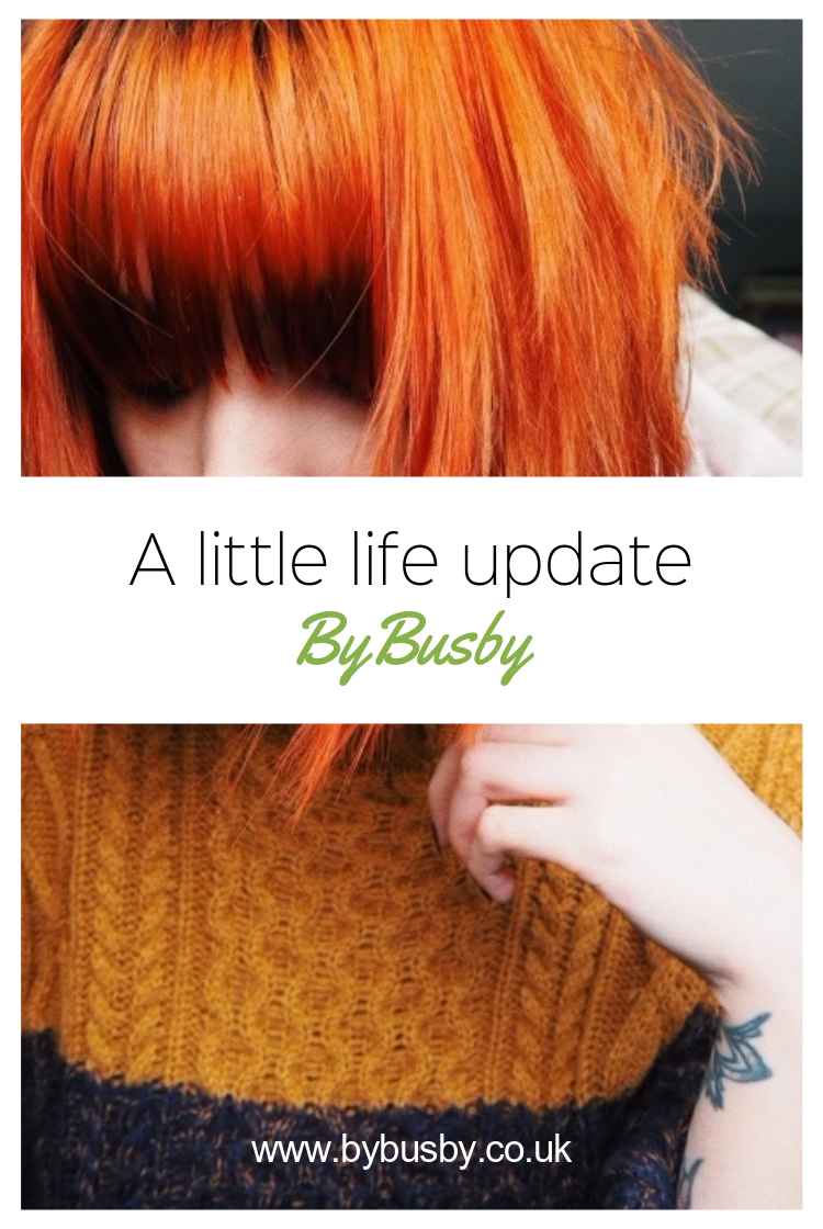 little life update - Pinterest graphic