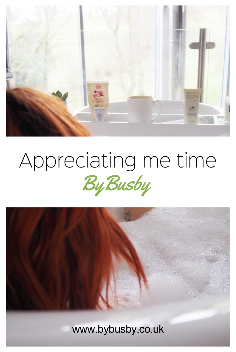 Appreciating me time - Pinterest graphic