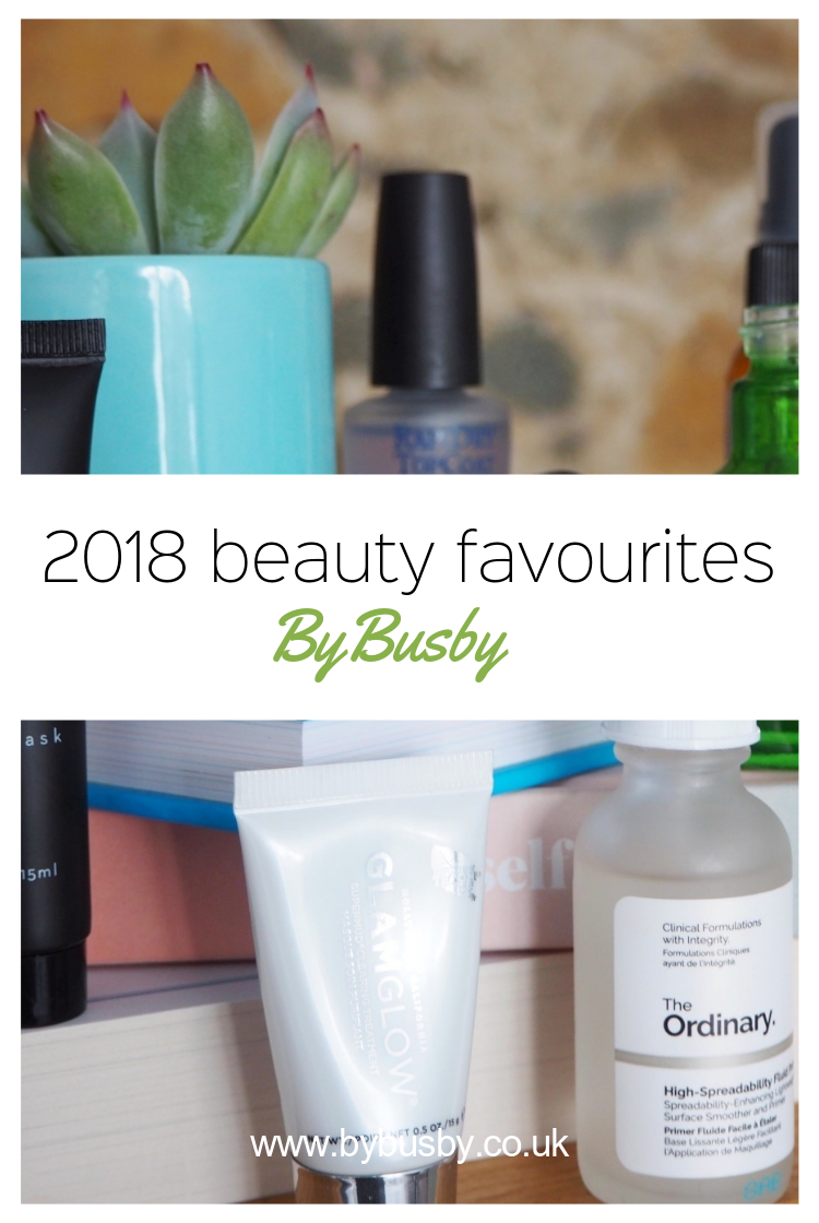 2018 beauty favourites- Pinterest graphics