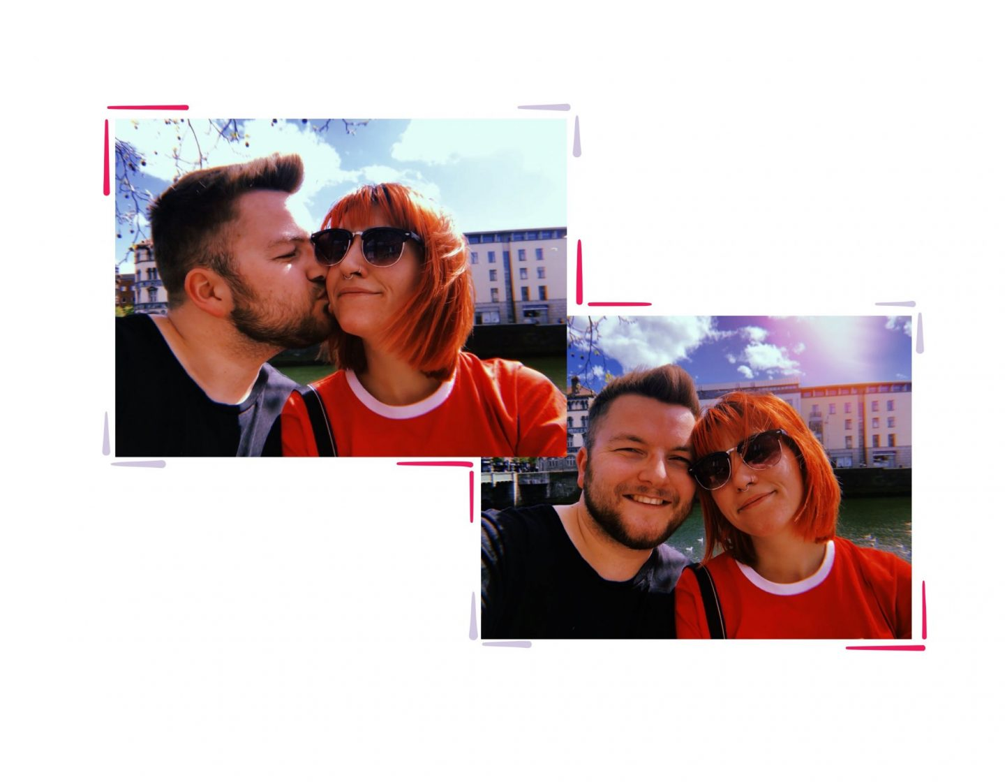 Dublin diaries; Exploring & Guinness tour - me and Jacob collage
