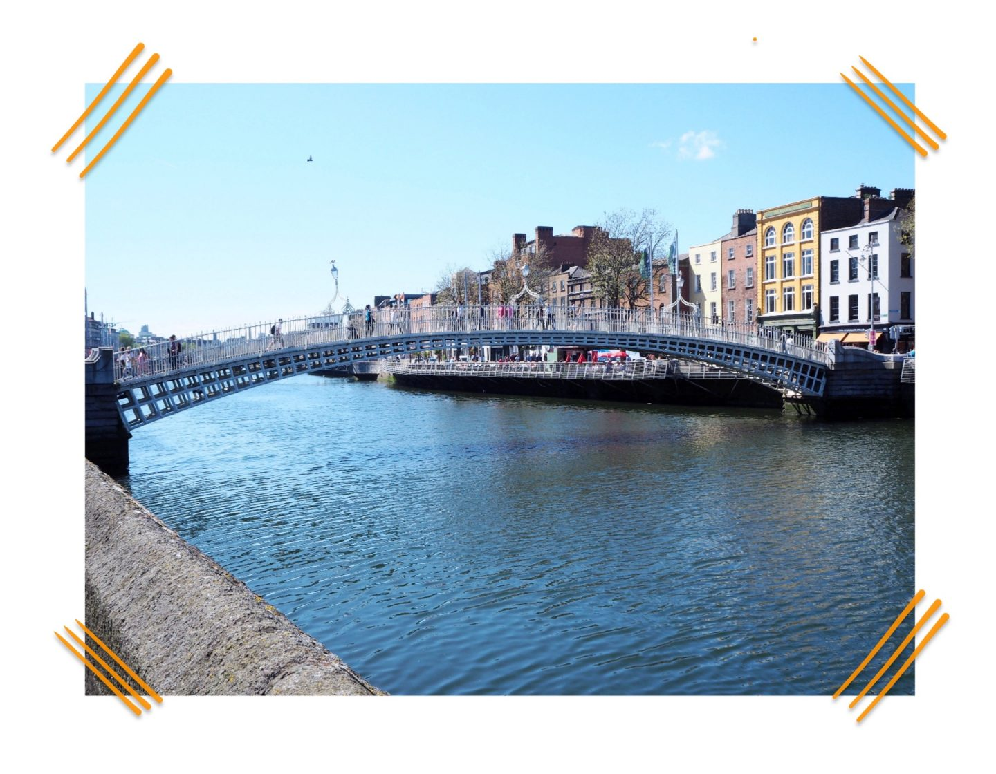Dublin diaries; Exploring & Guinness tour - half penny bridge