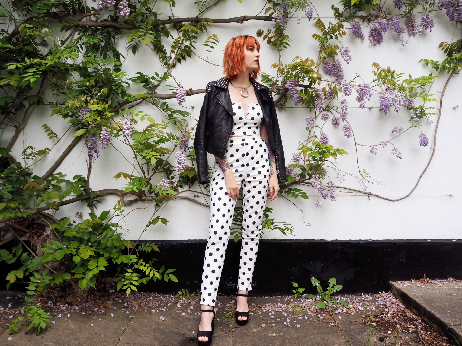 Reinventing Prom with boohoo - co-ord & jacket side view