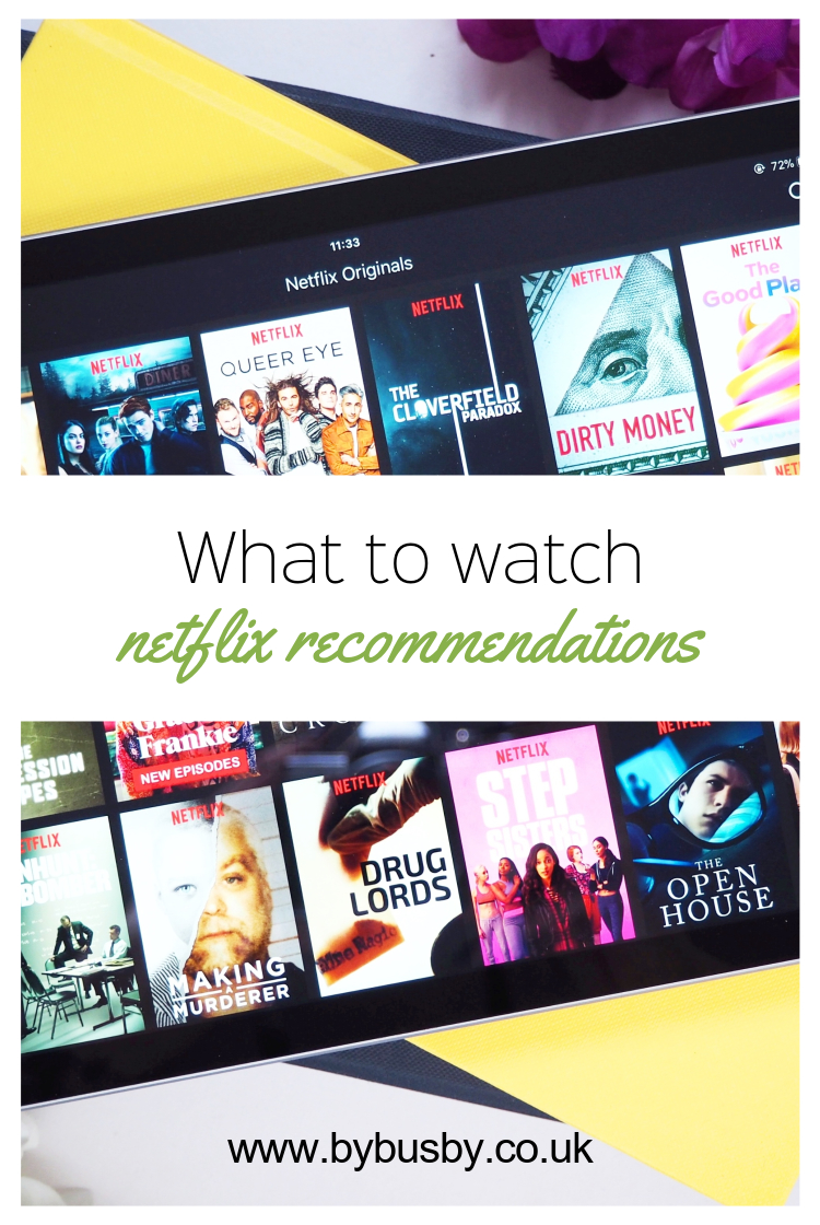 Netflix recommendations - Pinterest graphic