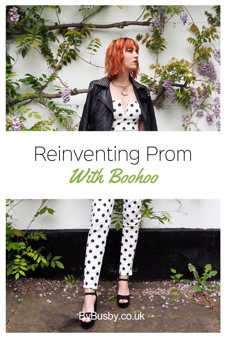 reinventing prom with boohoo - Pinterest graphic