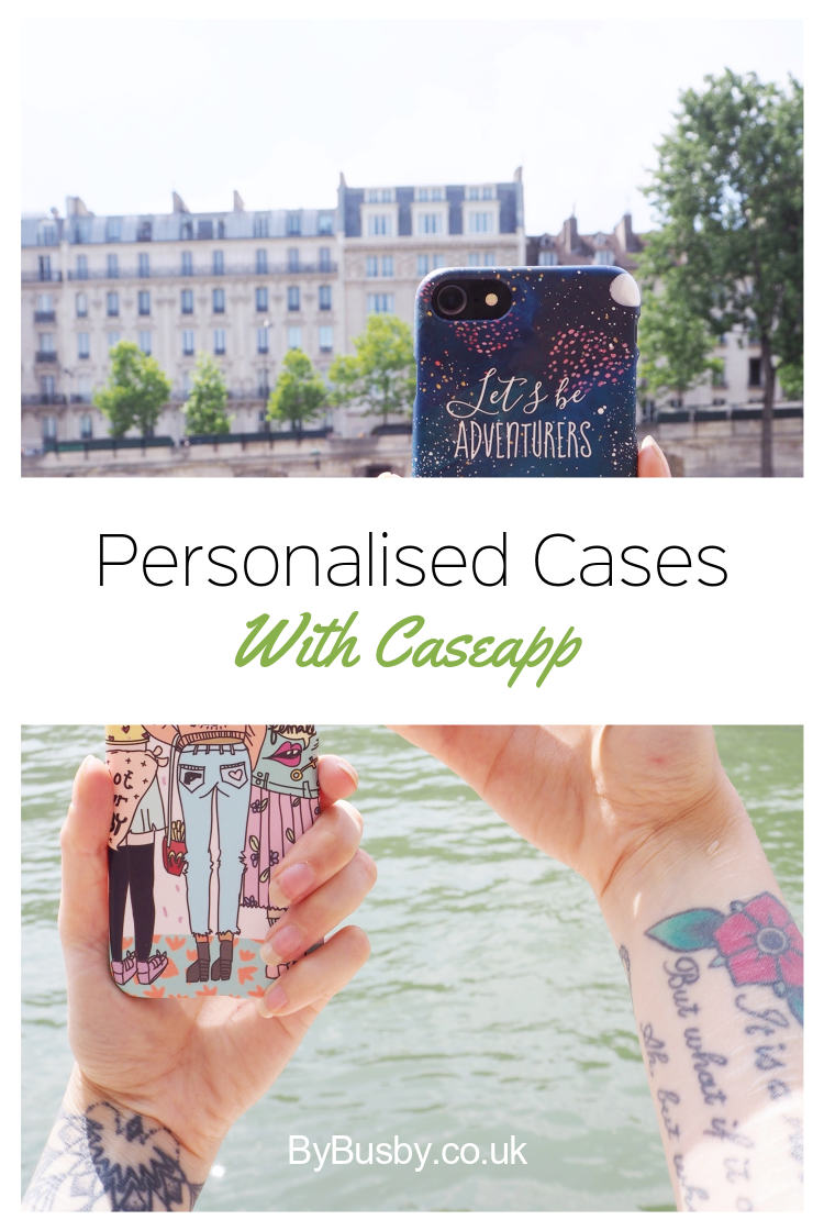 Creating a personalised case with caseapp - Pinterest graphic