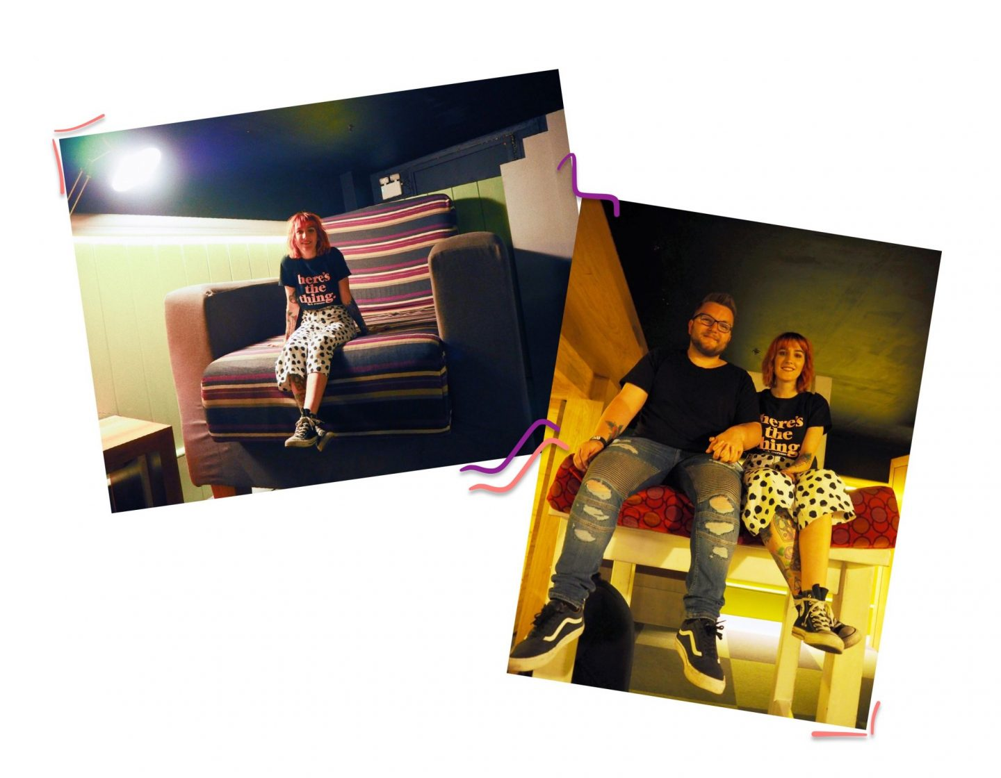 Dublin dairies; my favourite murder & leprechaun museum - large chair selfie collage