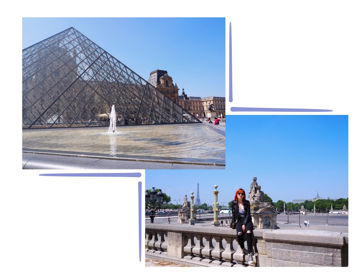 Exploring Paris; Montmartre & The Louvre - louvre collage