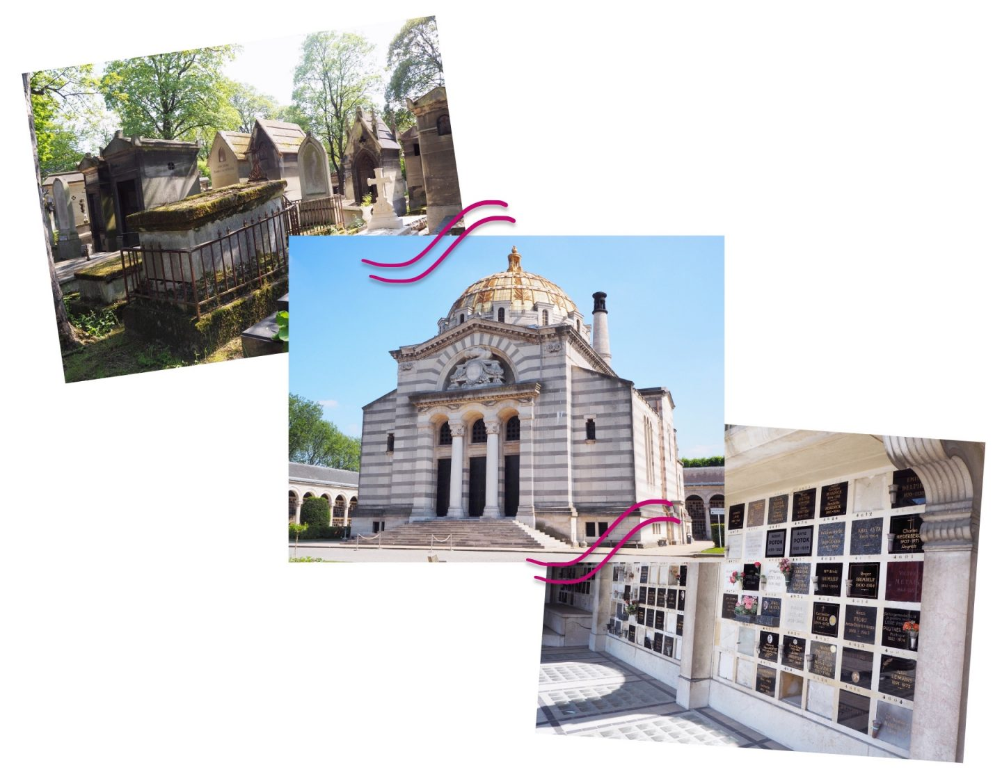 Exploring Paris; Tourist Hotspots & Macaroons Shopping - graveyard & cemetery collage