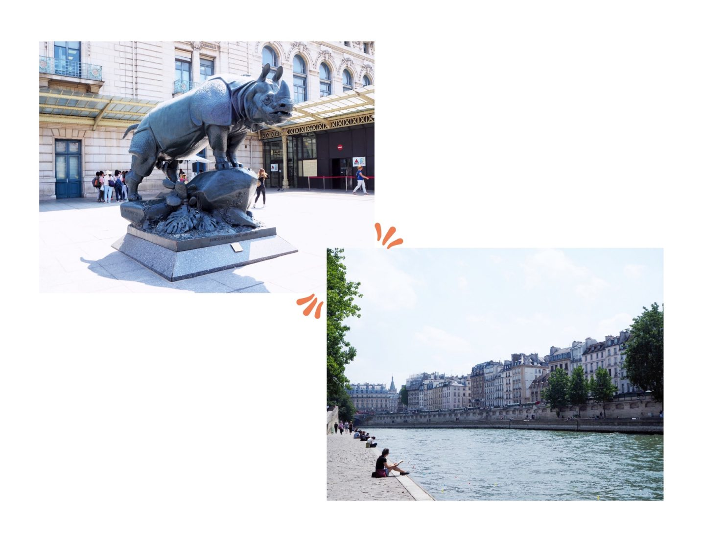 Exploring Paris; Tourist Hotspots & Macaroons Shopping - statue & river collage
