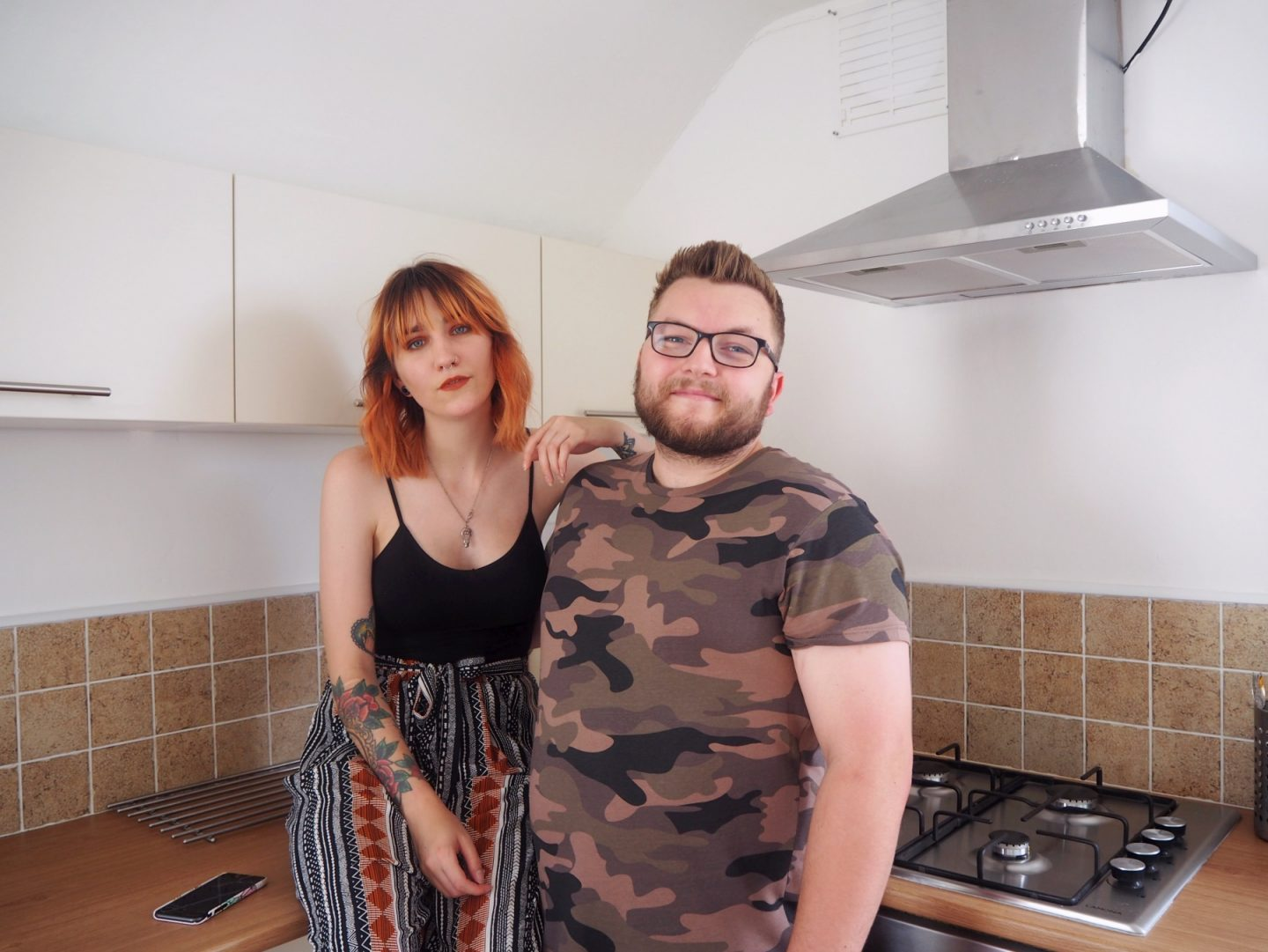we've moved - jacob & I in kitchen