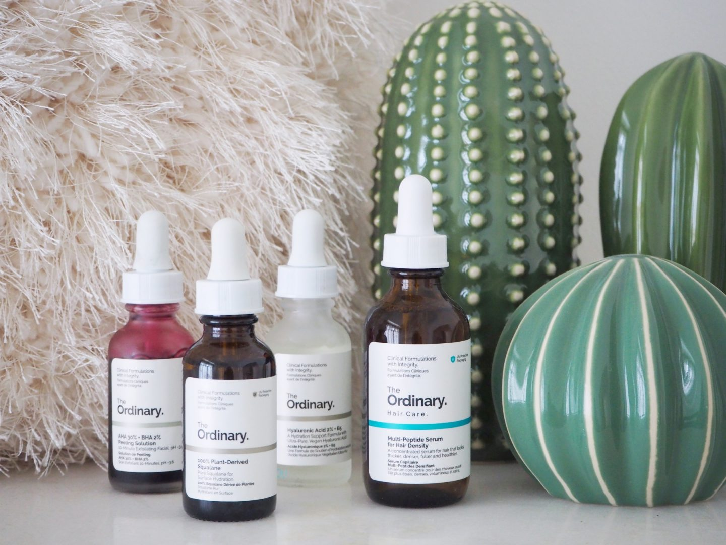 The Ordinary; The Affordable Products That Transformed My Skin - Peeling solution, 100% plant derived squalene, hylauronic acid & multi-peptide serum