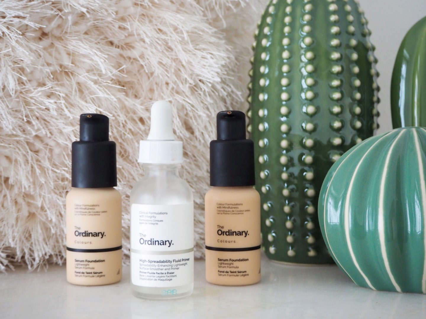 The Ordinary; The Affordable Products That Transformed My Skin - serum foundation & high-spreadability fluid primer