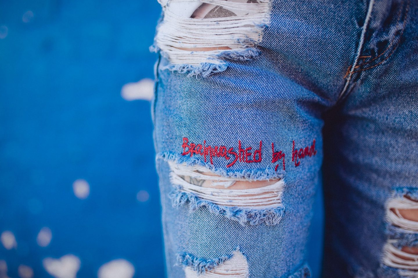 Discovering My personal style- ripped jean closeup