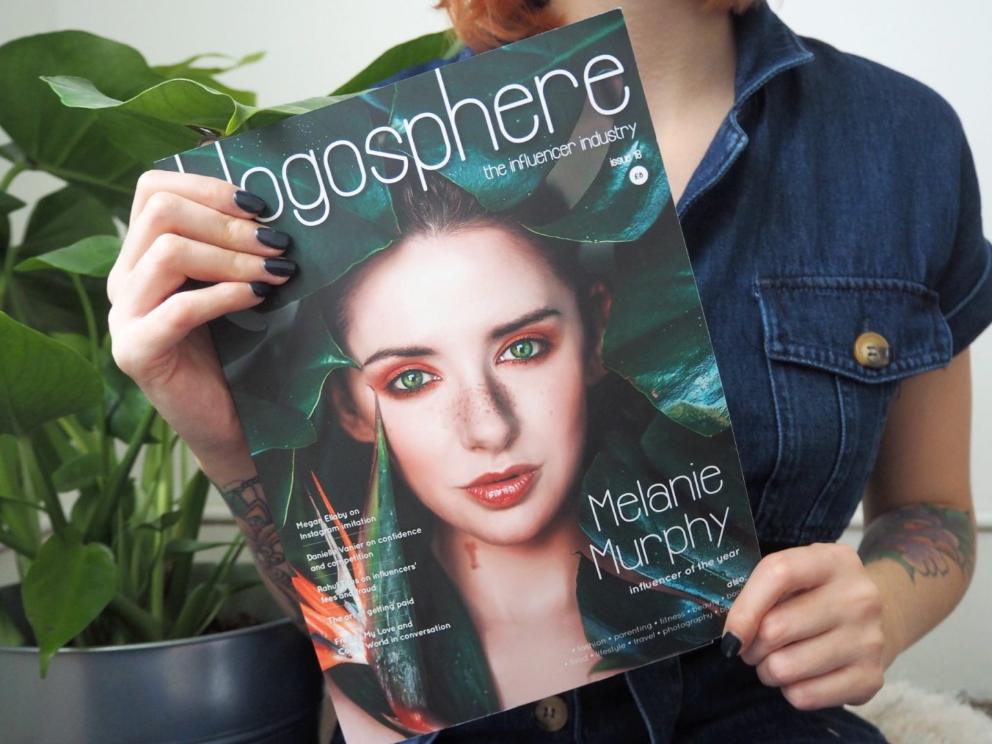 Has The Blogging Community Become Toxic? - me holding blogosphere magazine