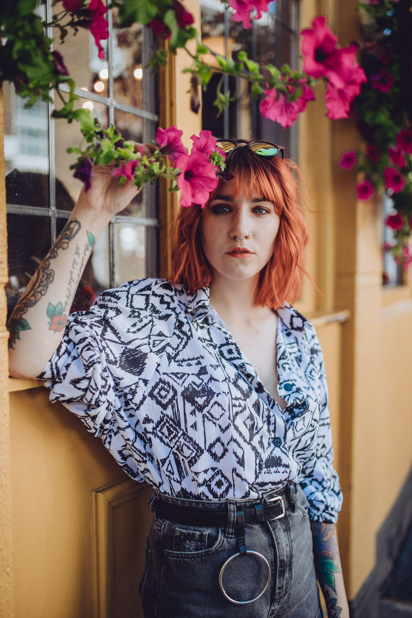 Buying Vintage In A World Of Fast Fashion - close up in flowers