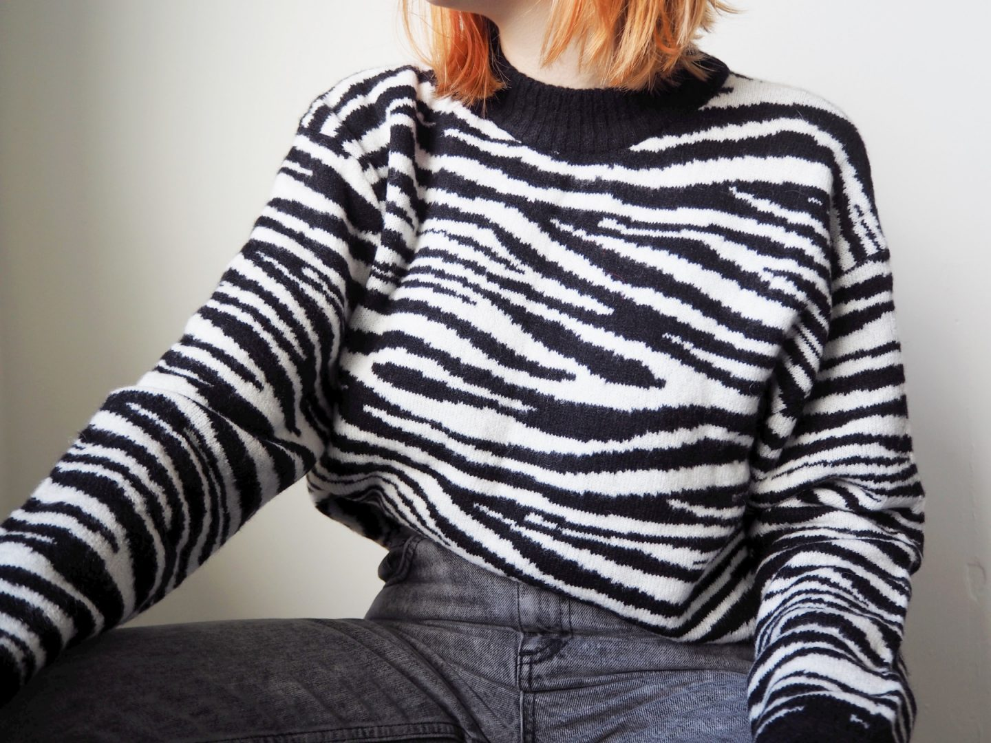 Getting Winter Ready With NA-KD Fashion - zebra print jumper
