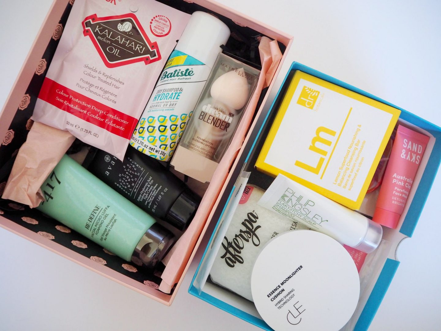 Birchbox VS Glossybox - march boxes content