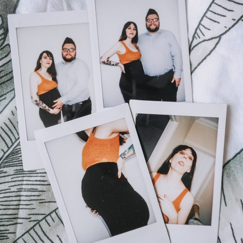 Expectations vs Reality - four family polaroids
