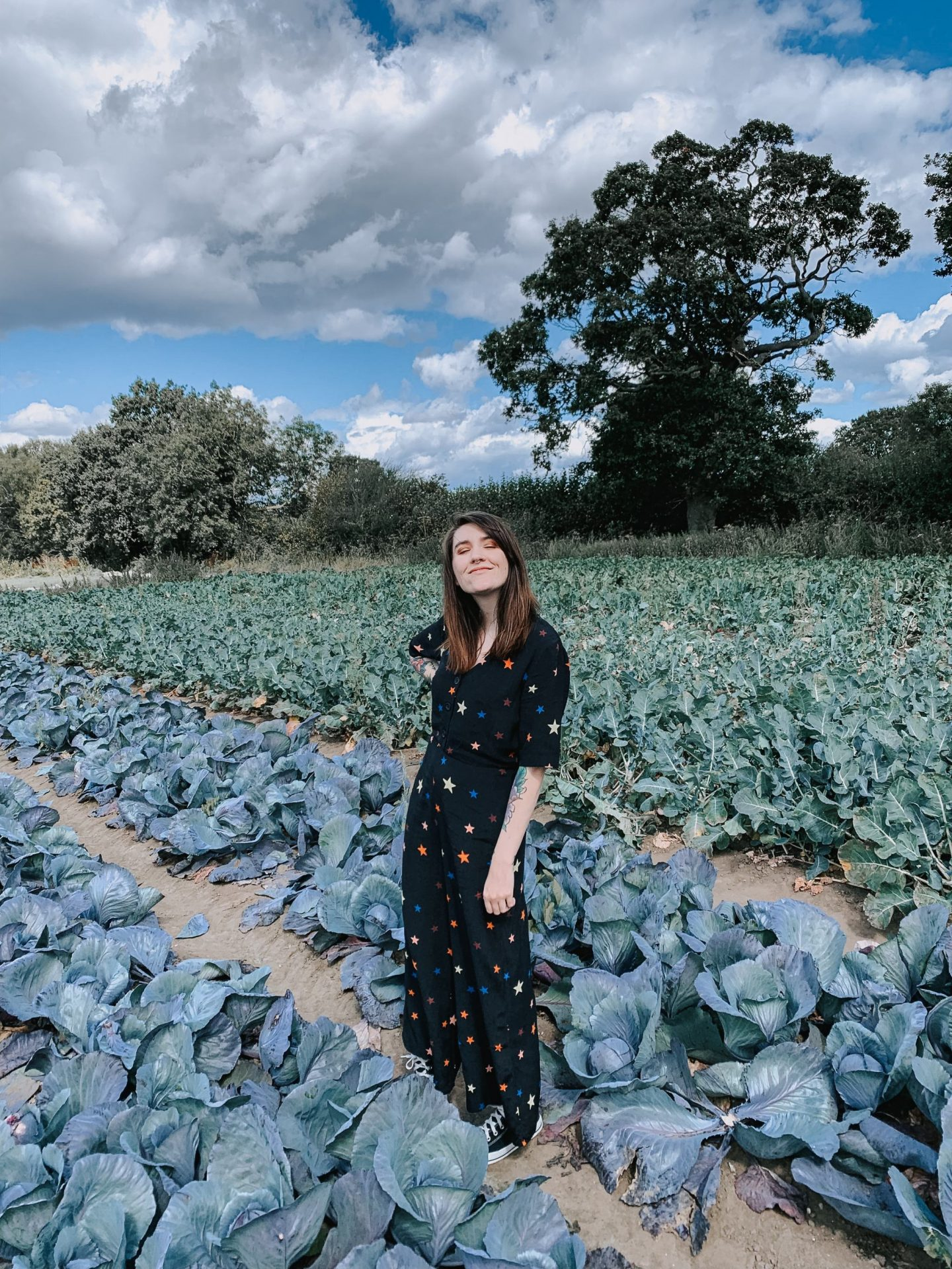 End Of Year Goals - full outfit in cabbage field