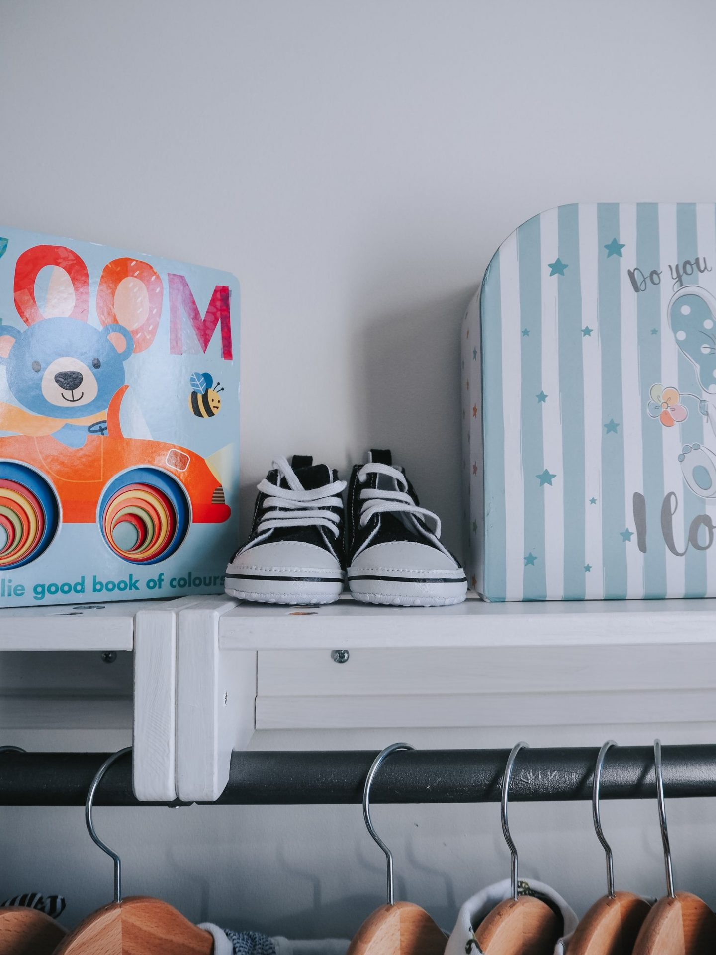 nursery tour - baby shoes