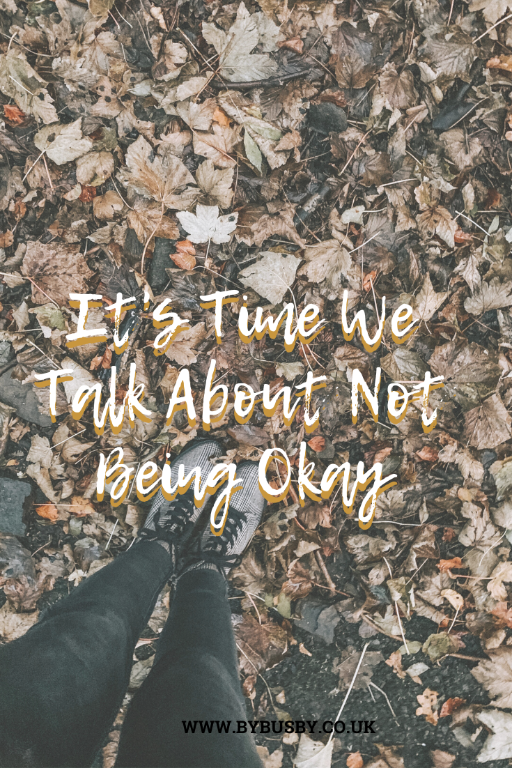 not being okay - Pinterest graphic