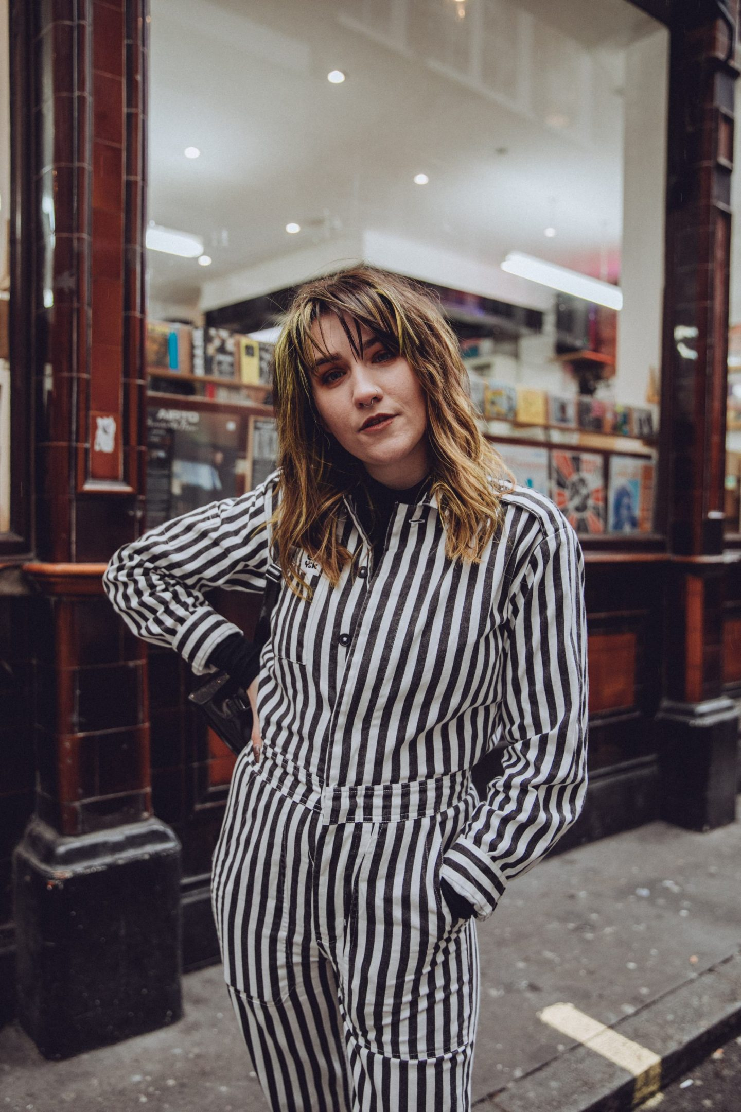 Realistic Ways To Be More Sustainable - Lucy and yak boiler suit close up