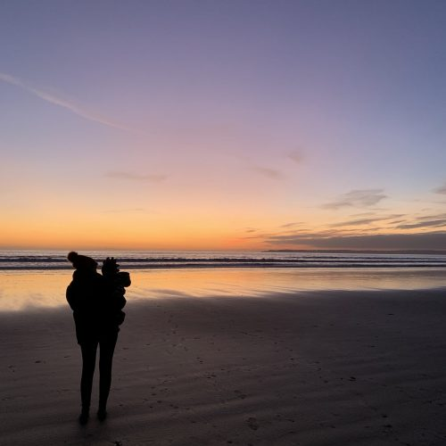 bpd awareness month q&a; me & jasper on the beach at sunset