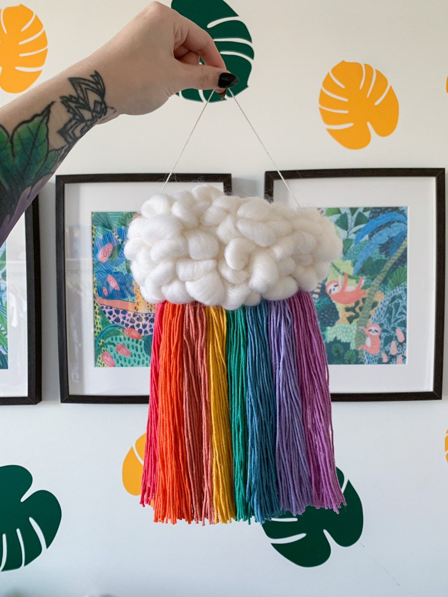 made by busby - rainbow cloud