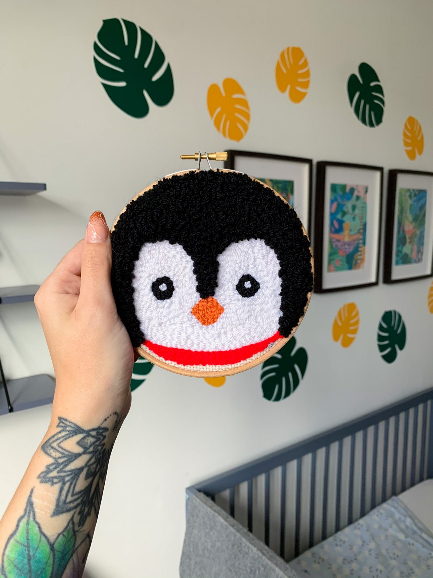 made by busby - penguin hoop