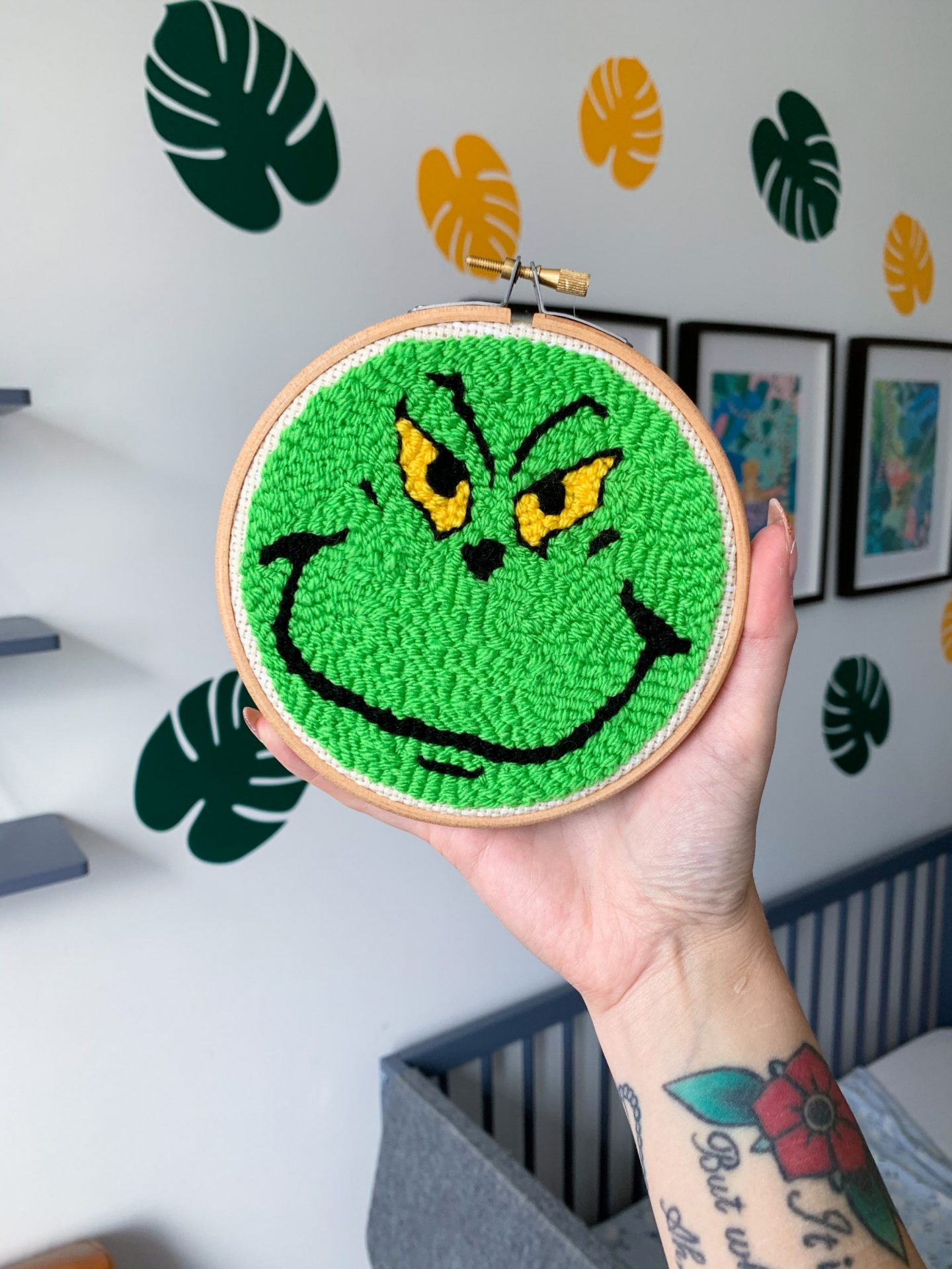 made by busby - grinch hoop